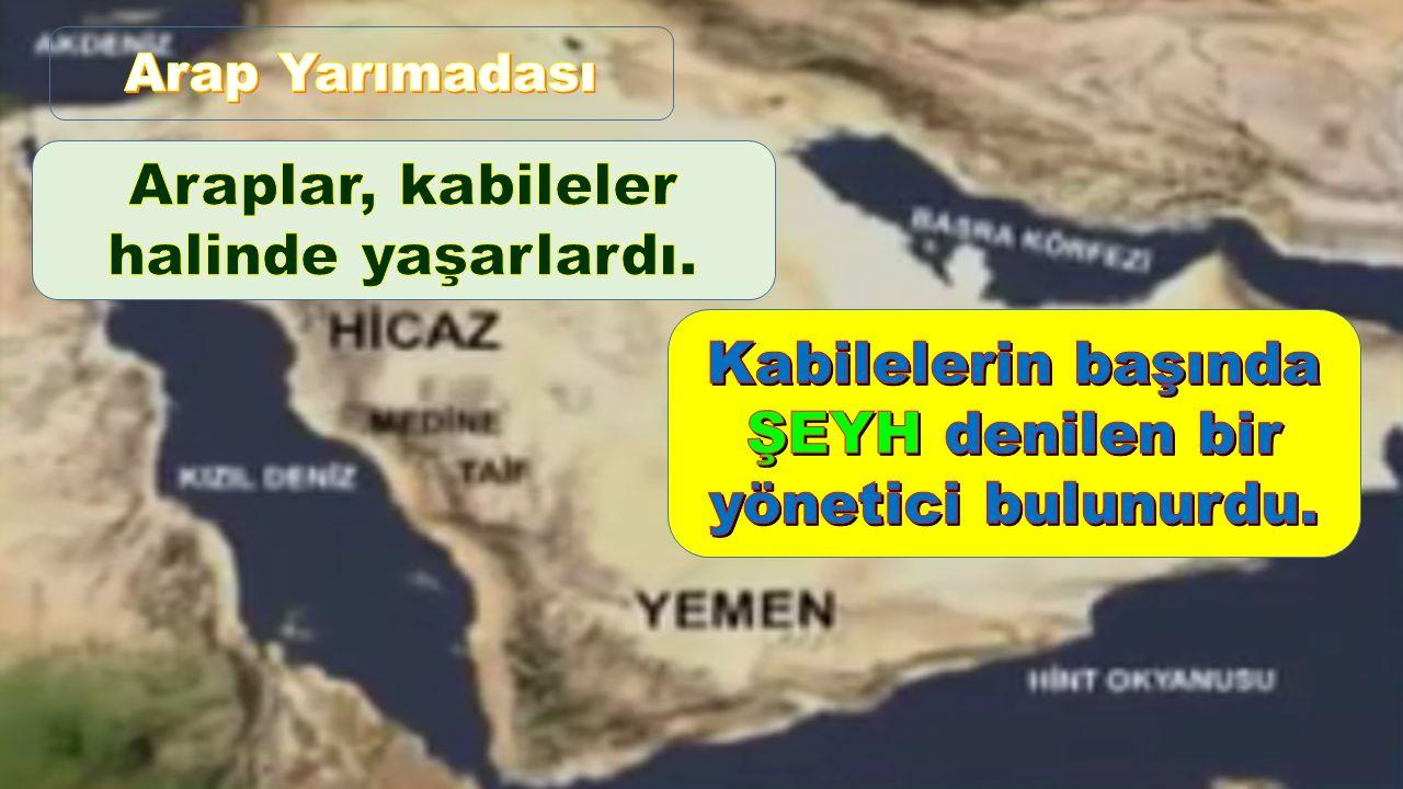 Kabilelerin başında ŞEYH denilen bir yönetici bulunurdu.