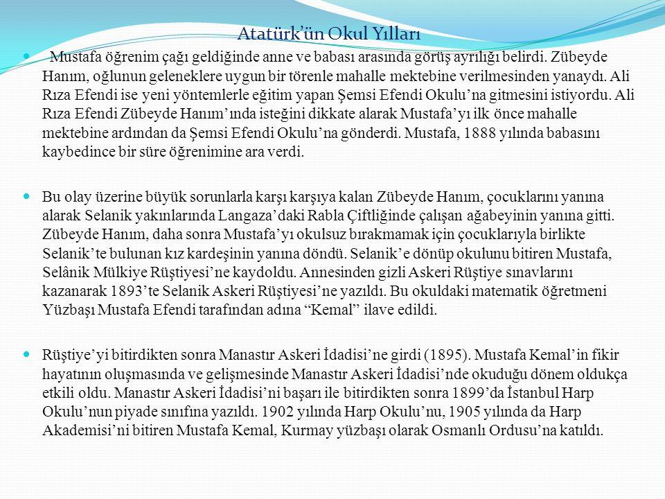 Atatürk'ün Okul Yılları