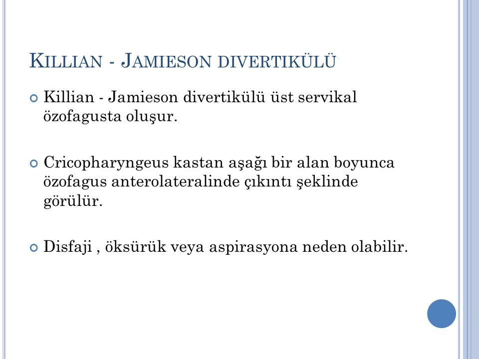 Killian - Jamieson divertikülü