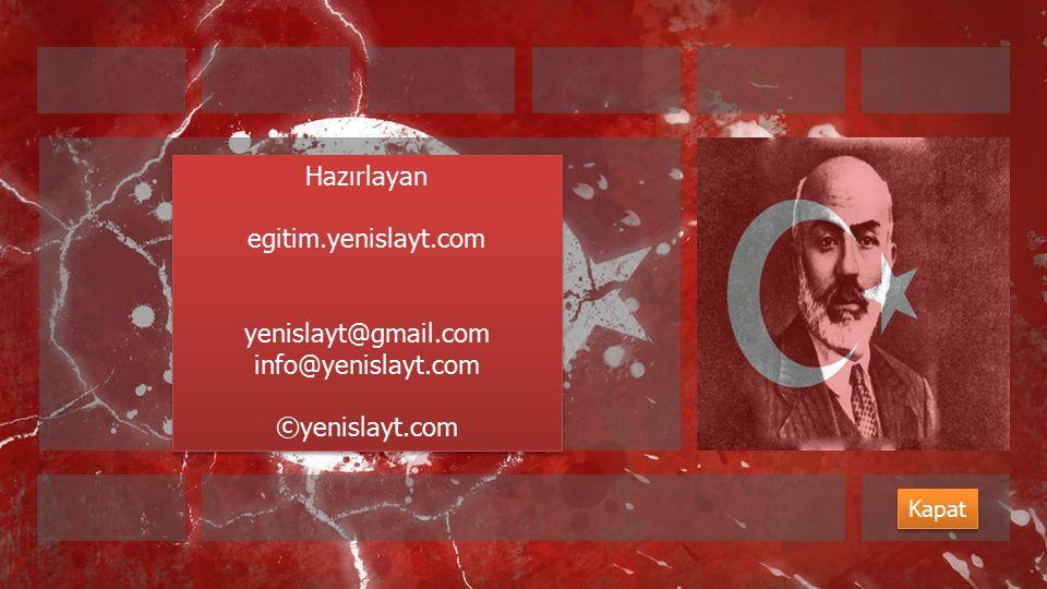 Hazırlayan egitim.yenislayt.com yenislayt@gmail.com info@yenislayt.com
