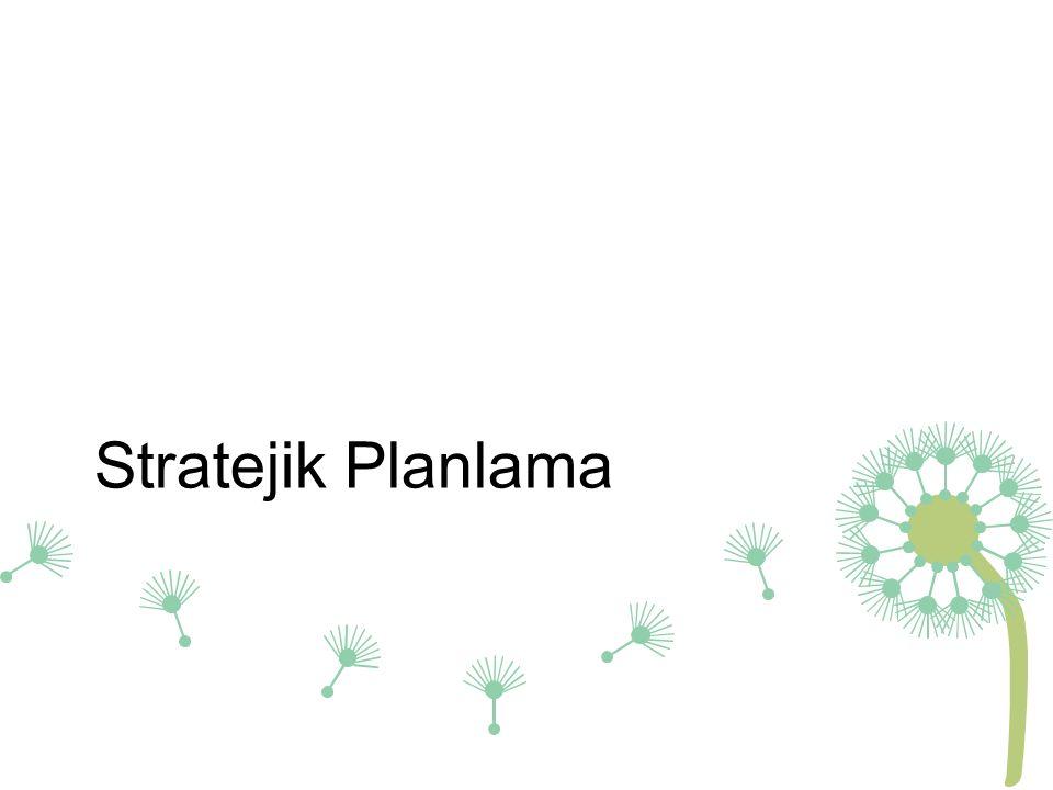 Stratejik Planlama