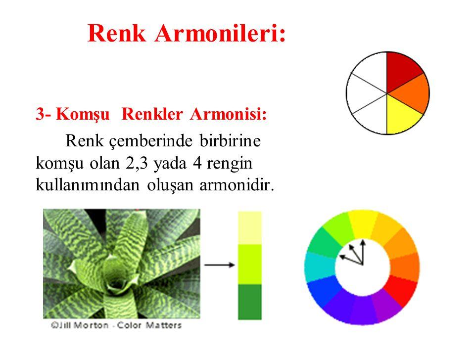 Renk Armonileri: 3- Komşu Renkler Armonisi: