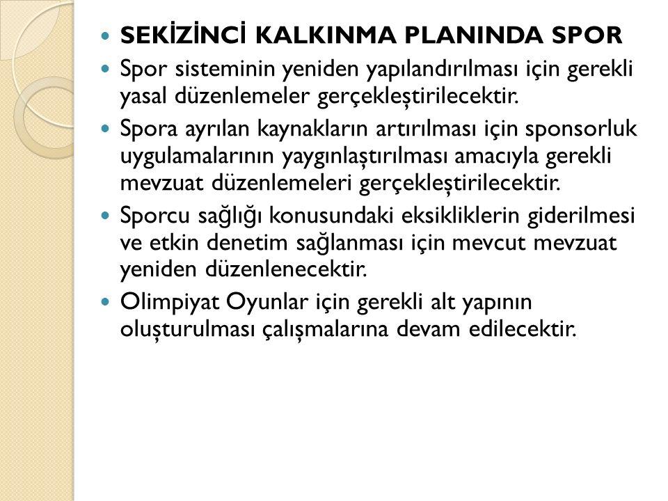 SEKİZİNCİ KALKINMA PLANINDA SPOR