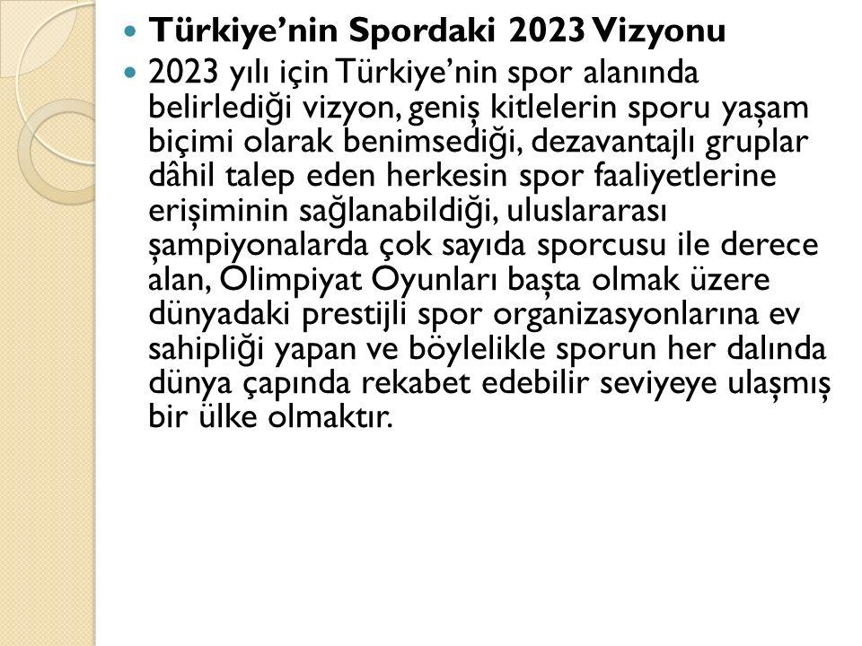 Türkiye'nin Spordaki 2023 Vizyonu