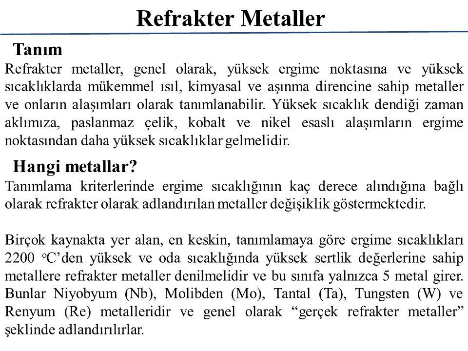 Refrakter Metaller Tanım Hangi metallar