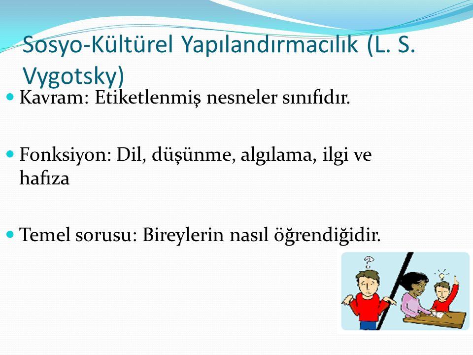 Sosyo-Kültürel Yapılandırmacılık (L. S. Vygotsky)