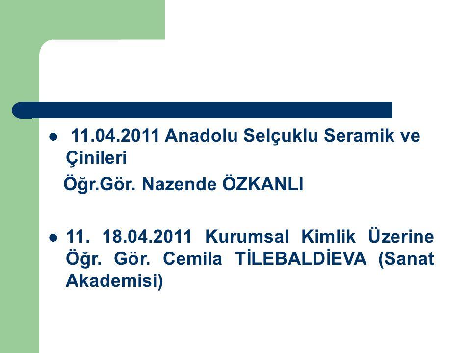 11.04.2011 Anadolu Selçuklu Seramik ve Çinileri
