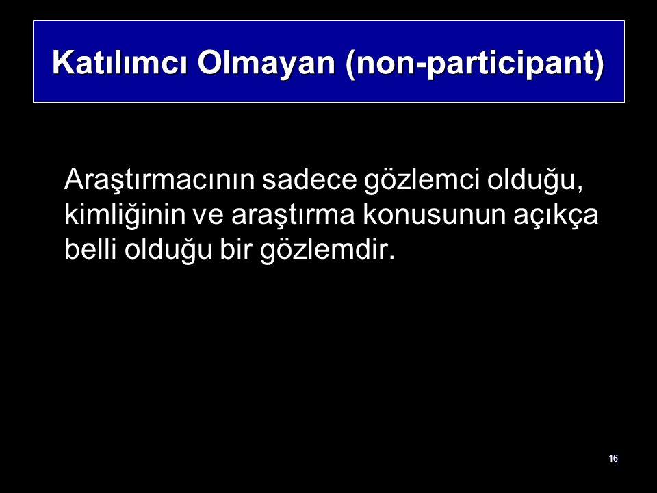 Katılımcı Olmayan (non-participant)