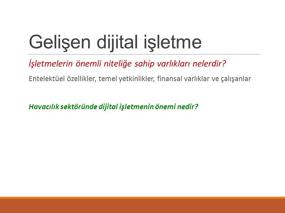 Gelişen dijital işletme