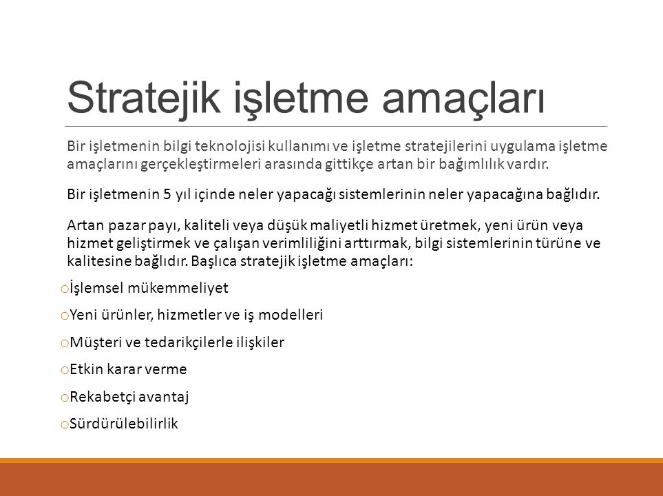Stratejik işletme amaçları