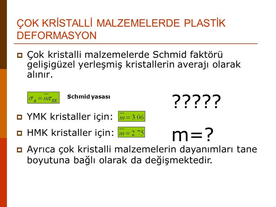 ÇOK KRİSTALLİ MALZEMELERDE PLASTİK DEFORMASYON
