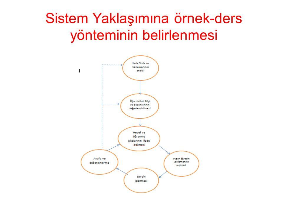 Sistem Yaklaşımına örnek-ders yönteminin belirlenmesi