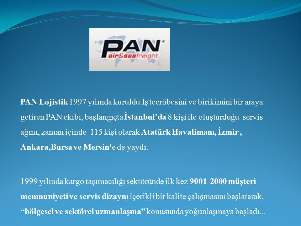 PAN Lojistik 1997 yılında kuruldu