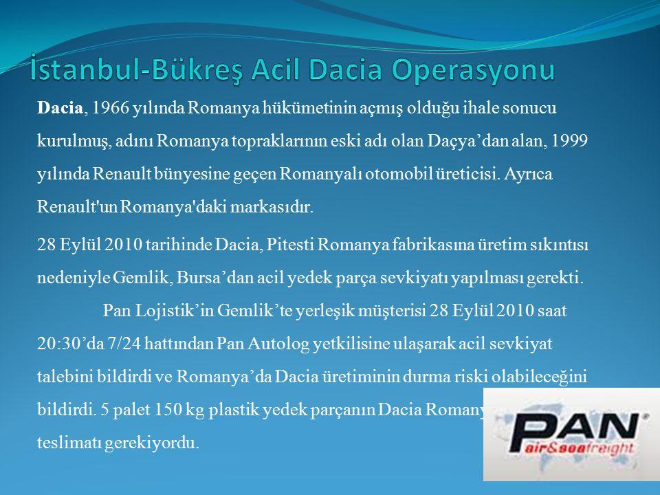 İstanbul-Bükreş Acil Dacia Operasyonu