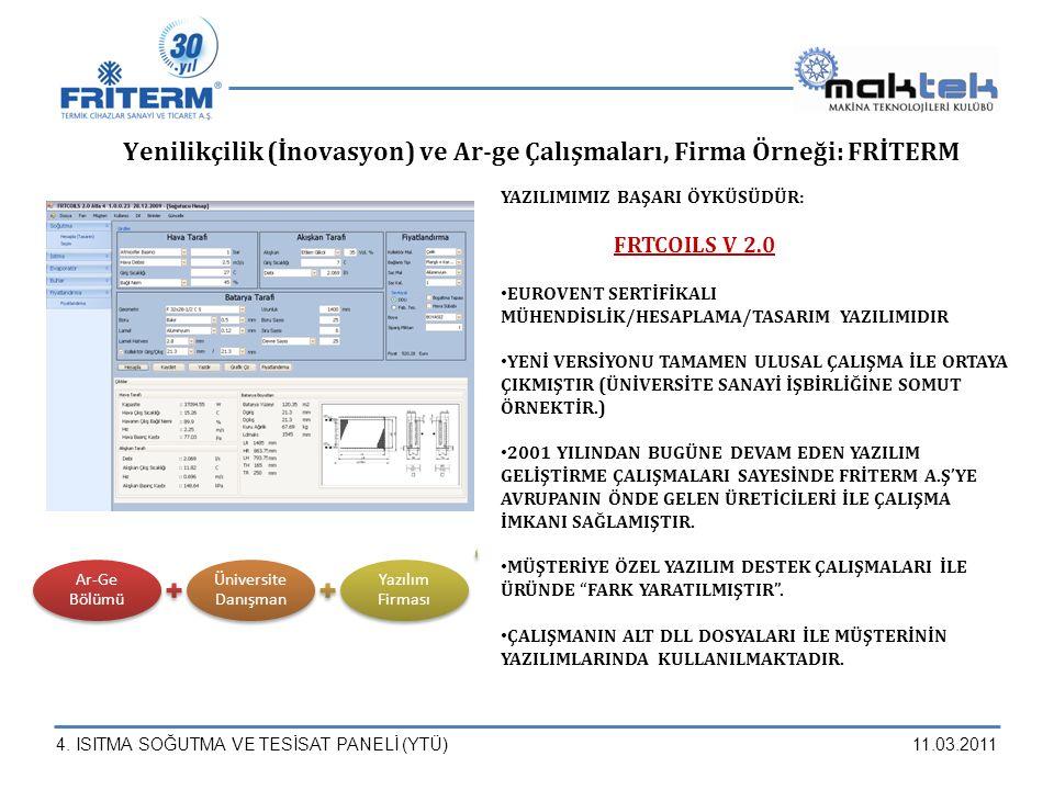 Yenilikçilik (İnovasyon) ve Ar-ge Çalışmaları, Firma Örneği: FRİTERM