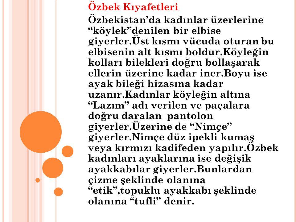 Özbek Kıyafetleri