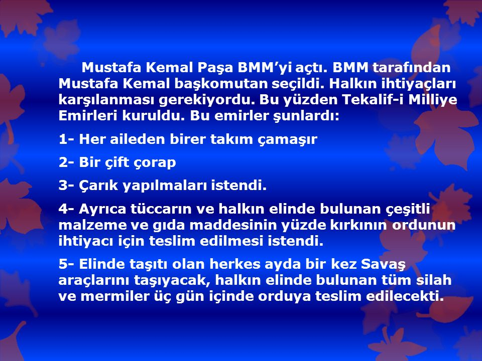 Mustafa Kemal Paşa BMM'yi açtı