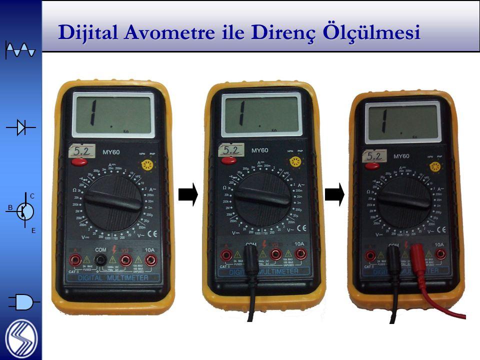 Dijital Avometre ile Direnç Ölçülmesi