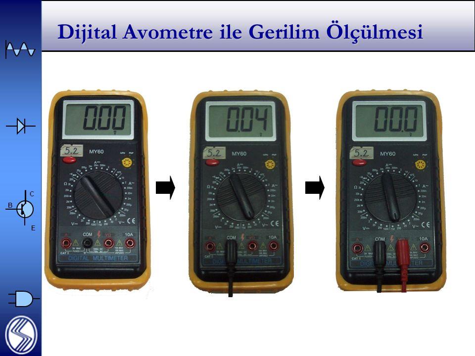 Dijital Avometre ile Gerilim Ölçülmesi