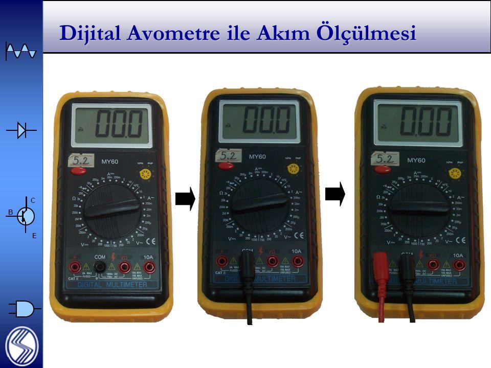 Dijital Avometre ile Akım Ölçülmesi