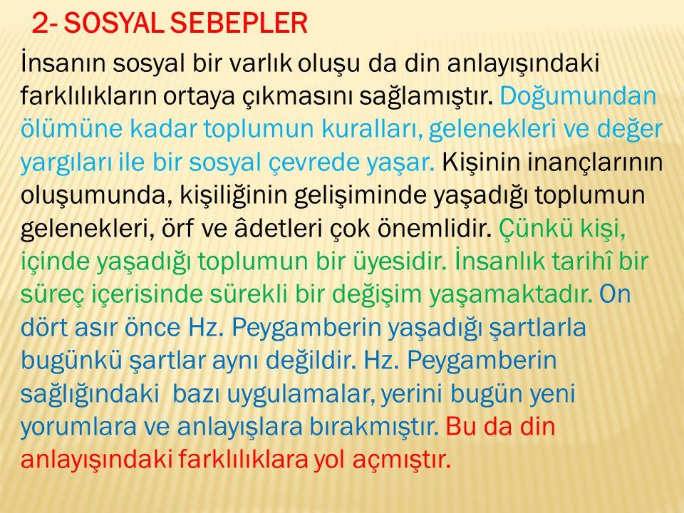2- SOSYAL SEBEPLER