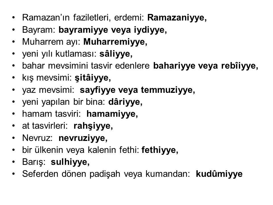 Ramazan'ın faziletleri, erdemi: Ramazaniyye,