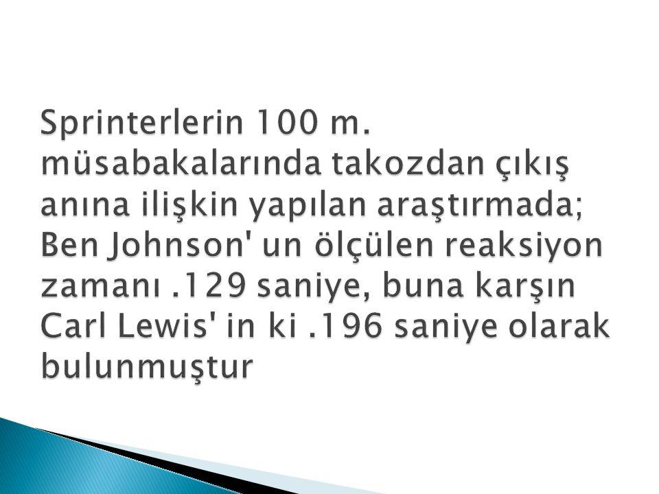 Sprinterlerin 100 m.