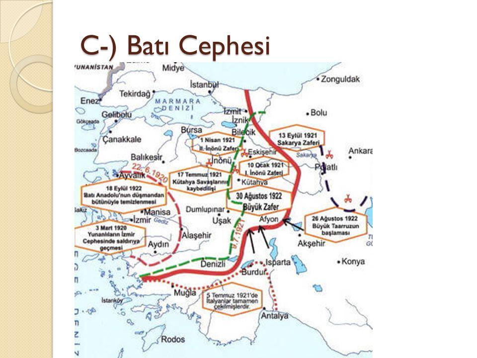 C-) Batı Cephesi