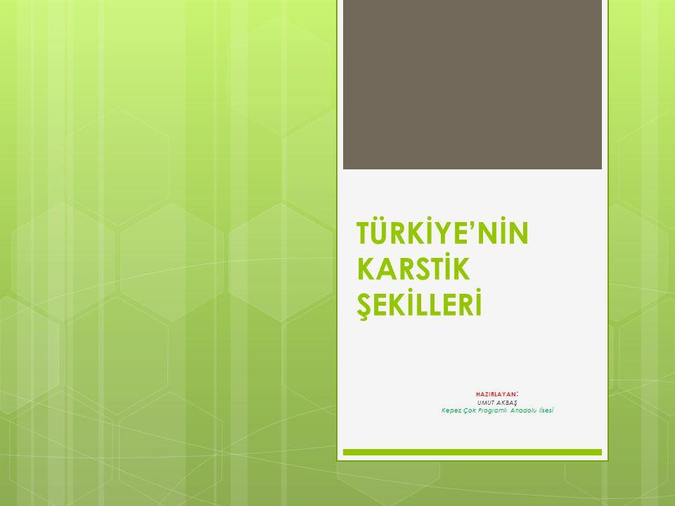TÜRKİYE'NİN KARSTİK ŞEKİLLERİ