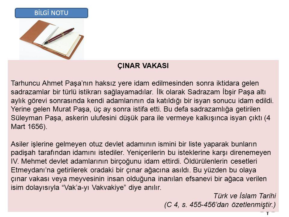 BİLGİ NOTU ÇINAR VAKASI.