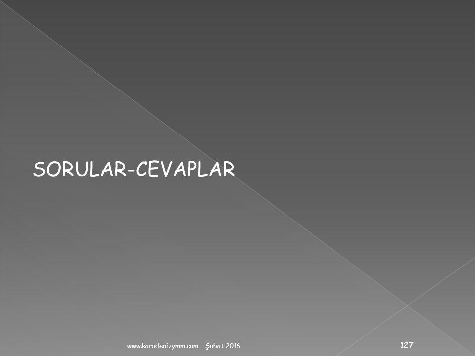 SORULAR-CEVAPLAR www.karadenizymm.com Şubat 2016
