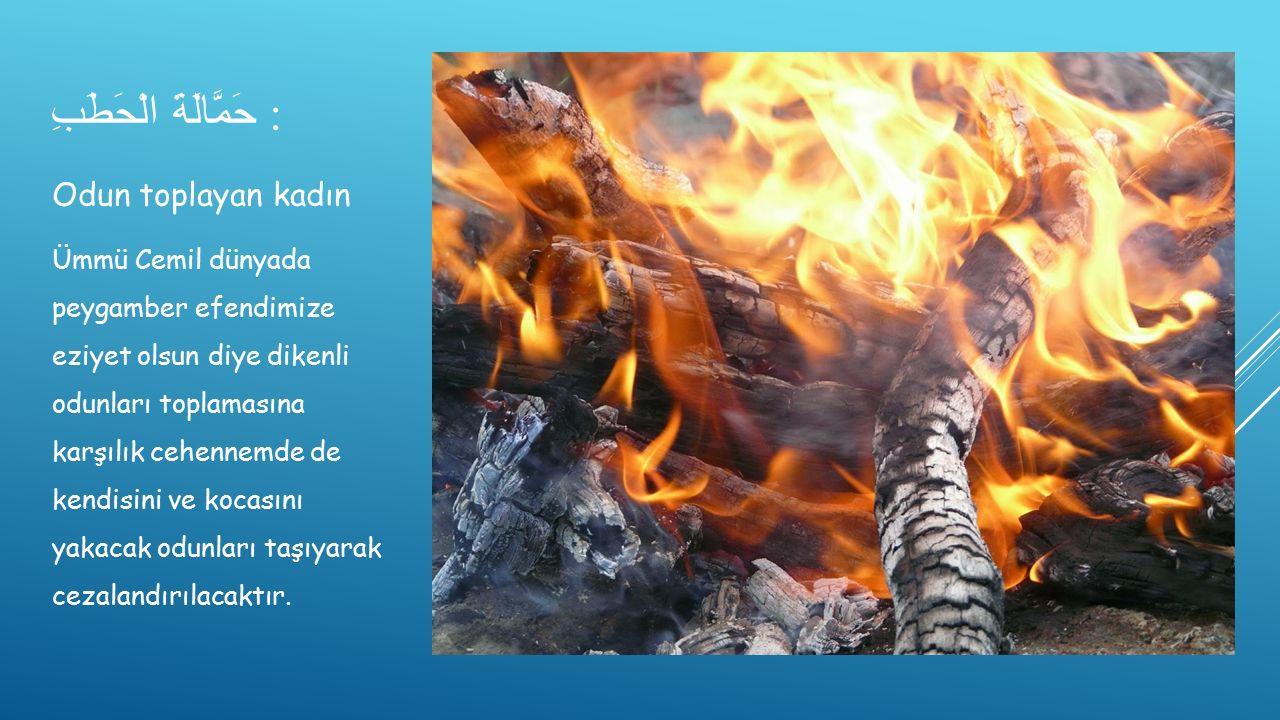 حَمَّالَةَ الْحَطَبِ :
