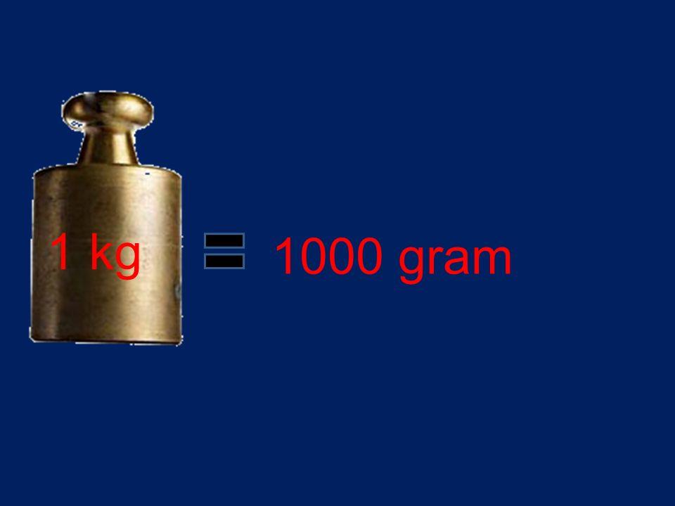 1 kg 1000 gram