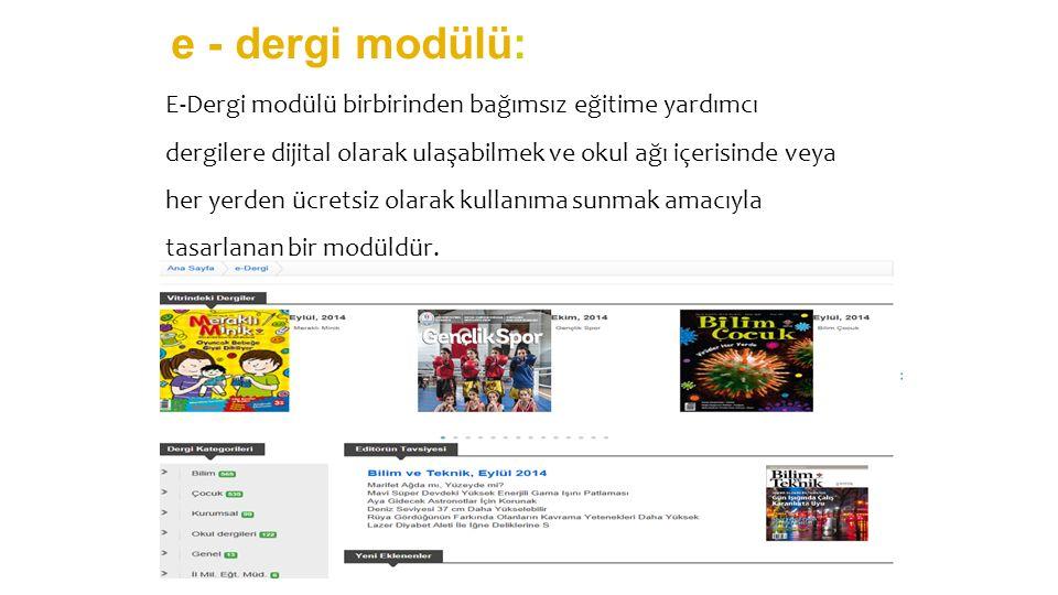 e - dergi modülü: