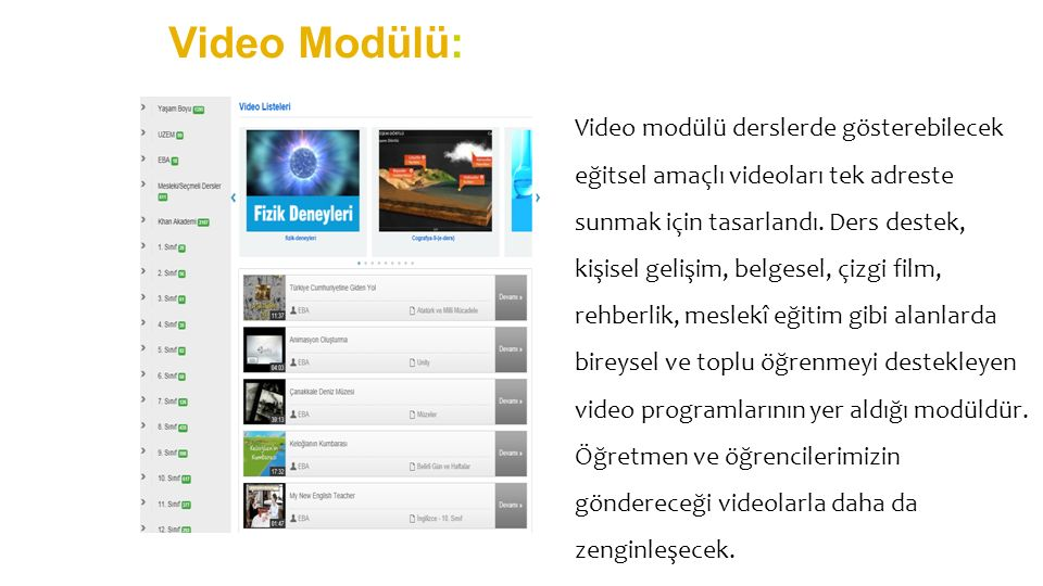 Video Modülü: