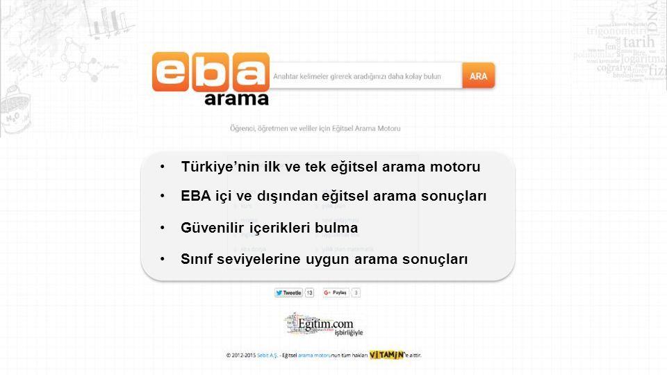 Türkiye'nin ilk ve tek eğitsel arama motoru
