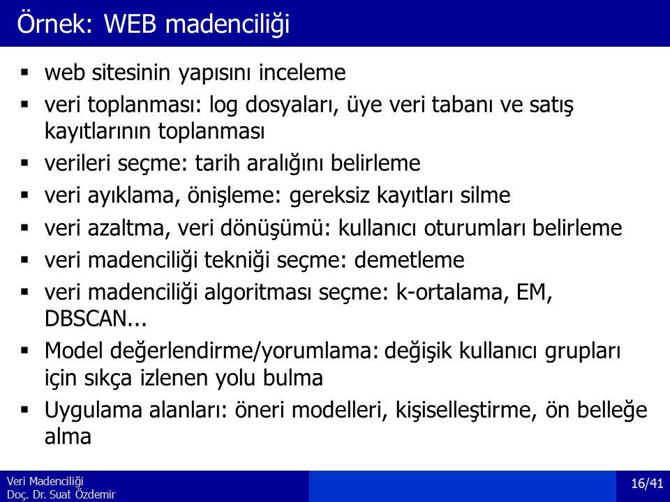 Örnek: WEB madenciliği