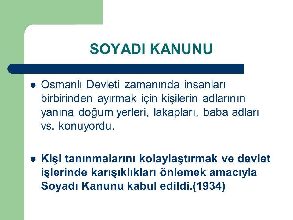 SOYADI KANUNU