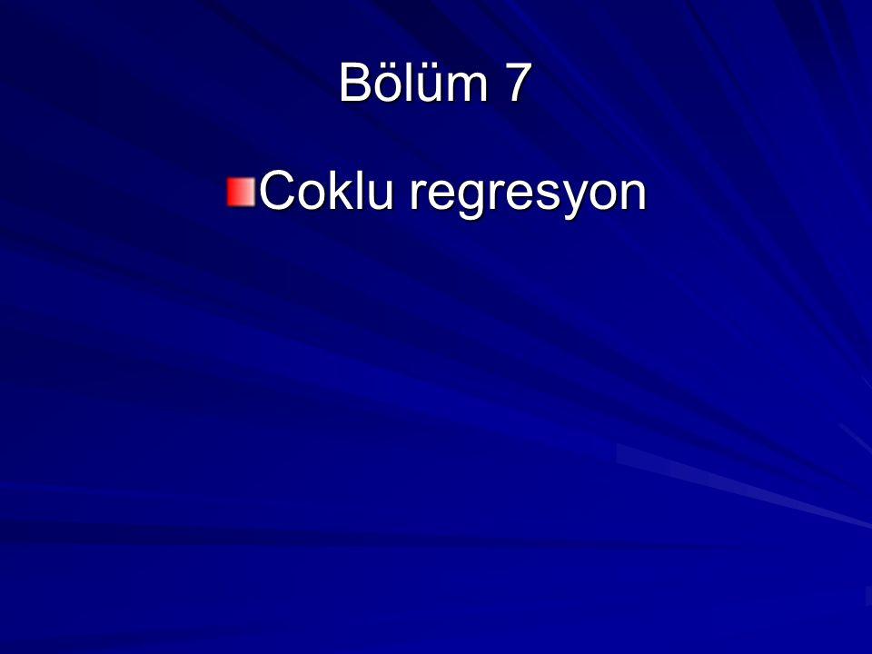 Bölüm 7 Coklu regresyon