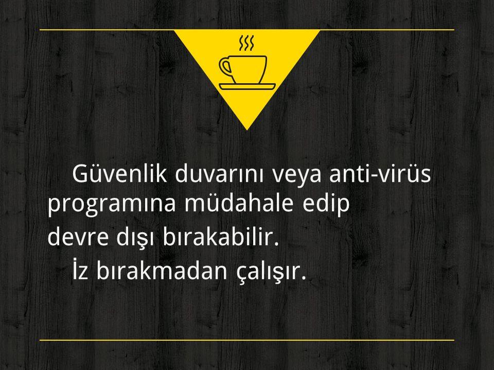 Güvenlik duvarını veya anti-virüs programına müdahale edip