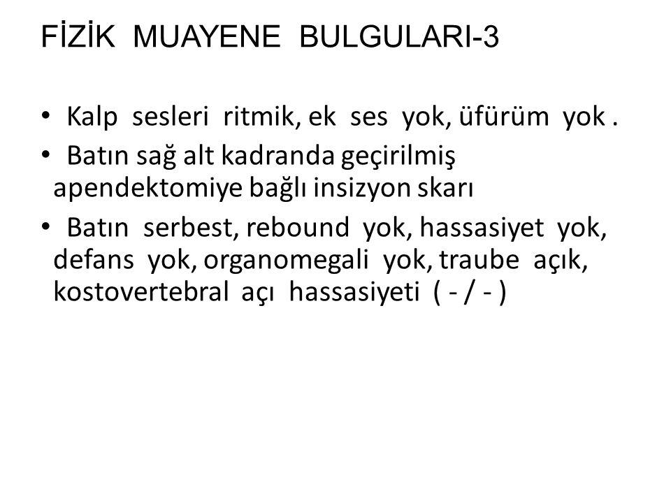 FİZİK MUAYENE BULGULARI-3