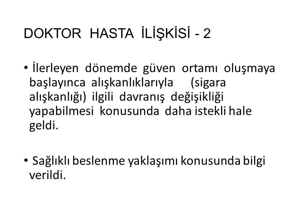 DOKTOR HASTA İLİŞKİSİ - 2