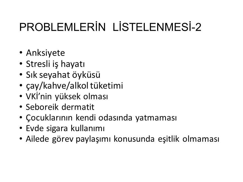 PROBLEMLERİN LİSTELENMESİ-2