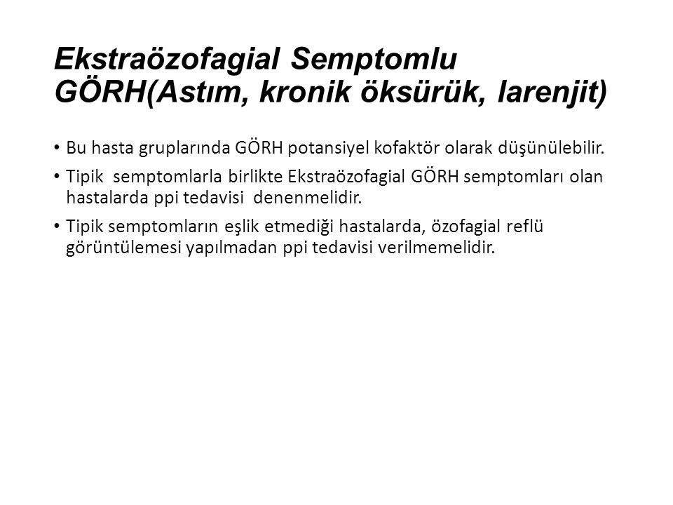 Ekstraözofagial Semptomlu GÖRH(Astım, kronik öksürük, larenjit)