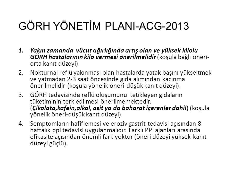 GÖRH YÖNETİM PLANI-ACG-2013
