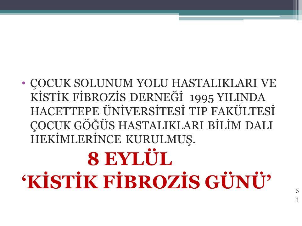 'KİSTİK FİBROZİS GÜNÜ'