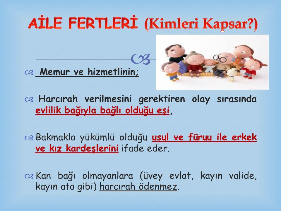 AİLE FERTLERİ (Kimleri Kapsar )