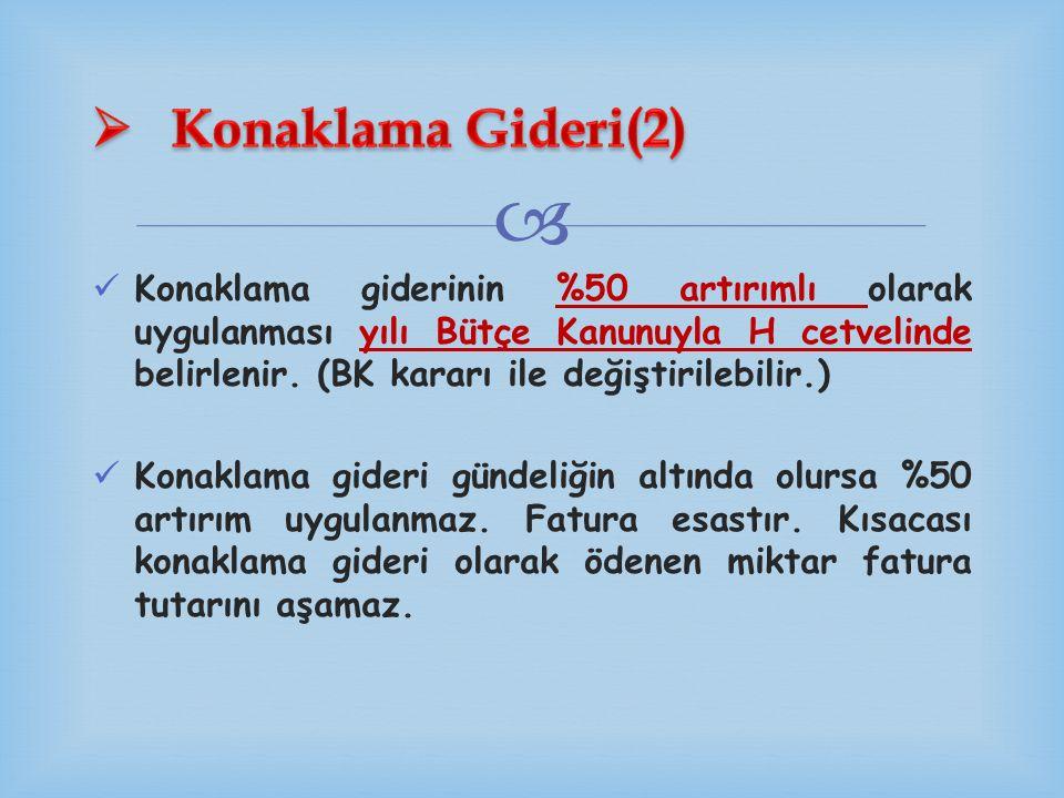 Konaklama Gideri(2)