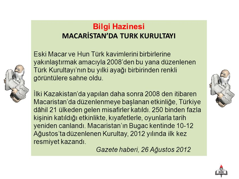MACARİSTAN'DA TURK KURULTAYI