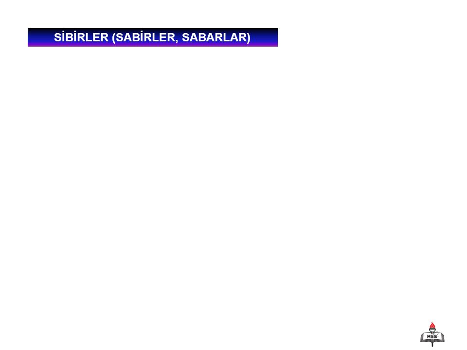 SİBİRLER (SABİRLER, SABARLAR)
